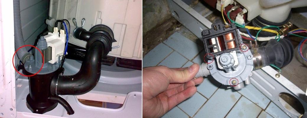 Помпа слива воды в стиральной машине